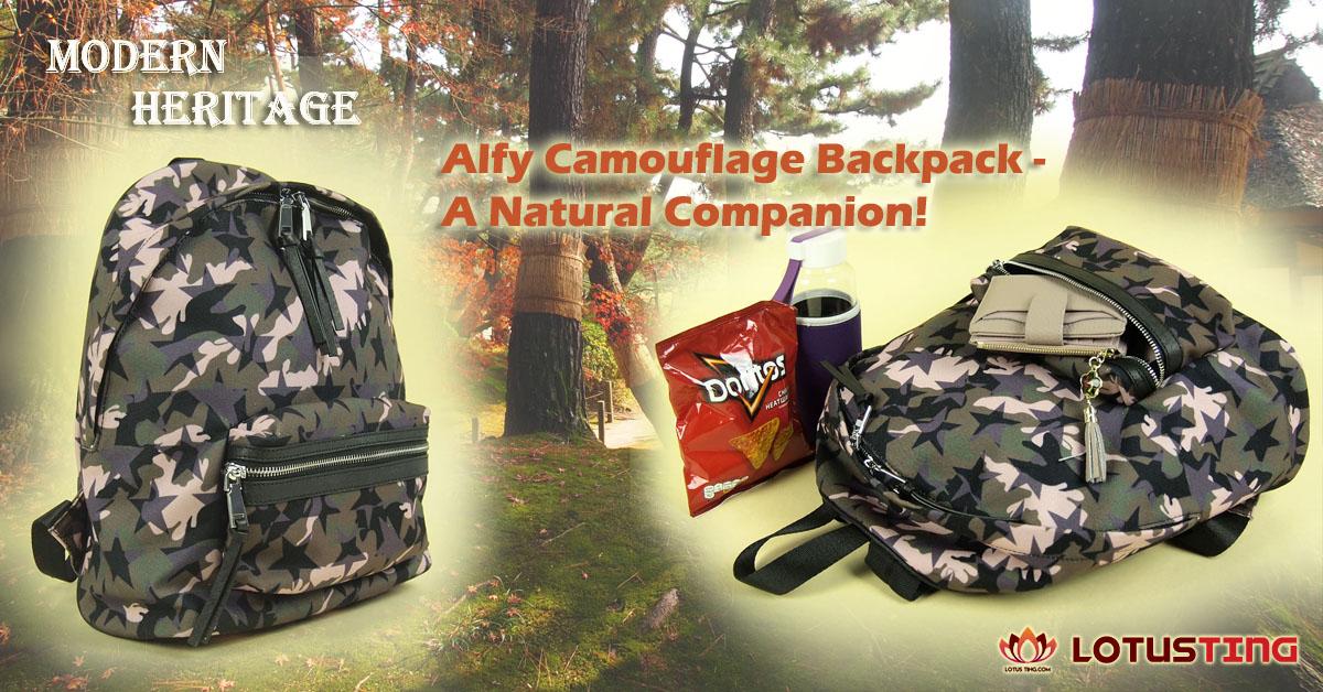 Superb Modern Heritage Alfy Camofloug Backpack at Lotusting eShop