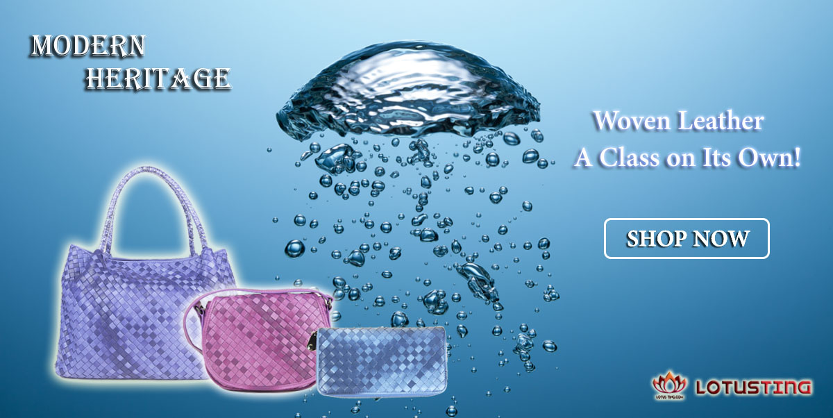 Elegant Woven Leather Bag Selections at Lotusting eStore