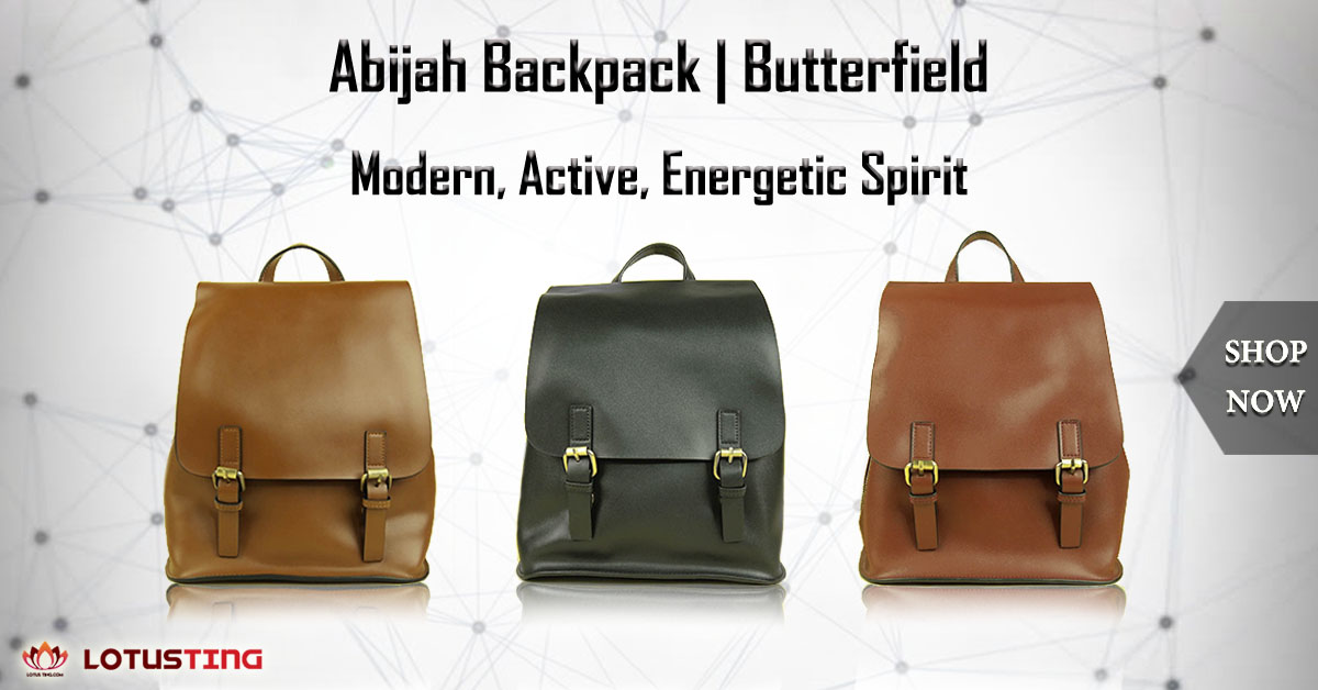 The Eye-catching Butterfield Abijah Backpack at Lotusting Singapore Online Shop
