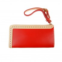 L Shape Zip Wallet Red | MIE