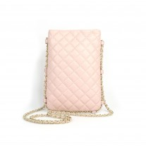 Jodi Quilted Pink Phone Bag | Modern Heritage