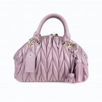 Liza Matelassé Top Handle Purple   Modern Heritage