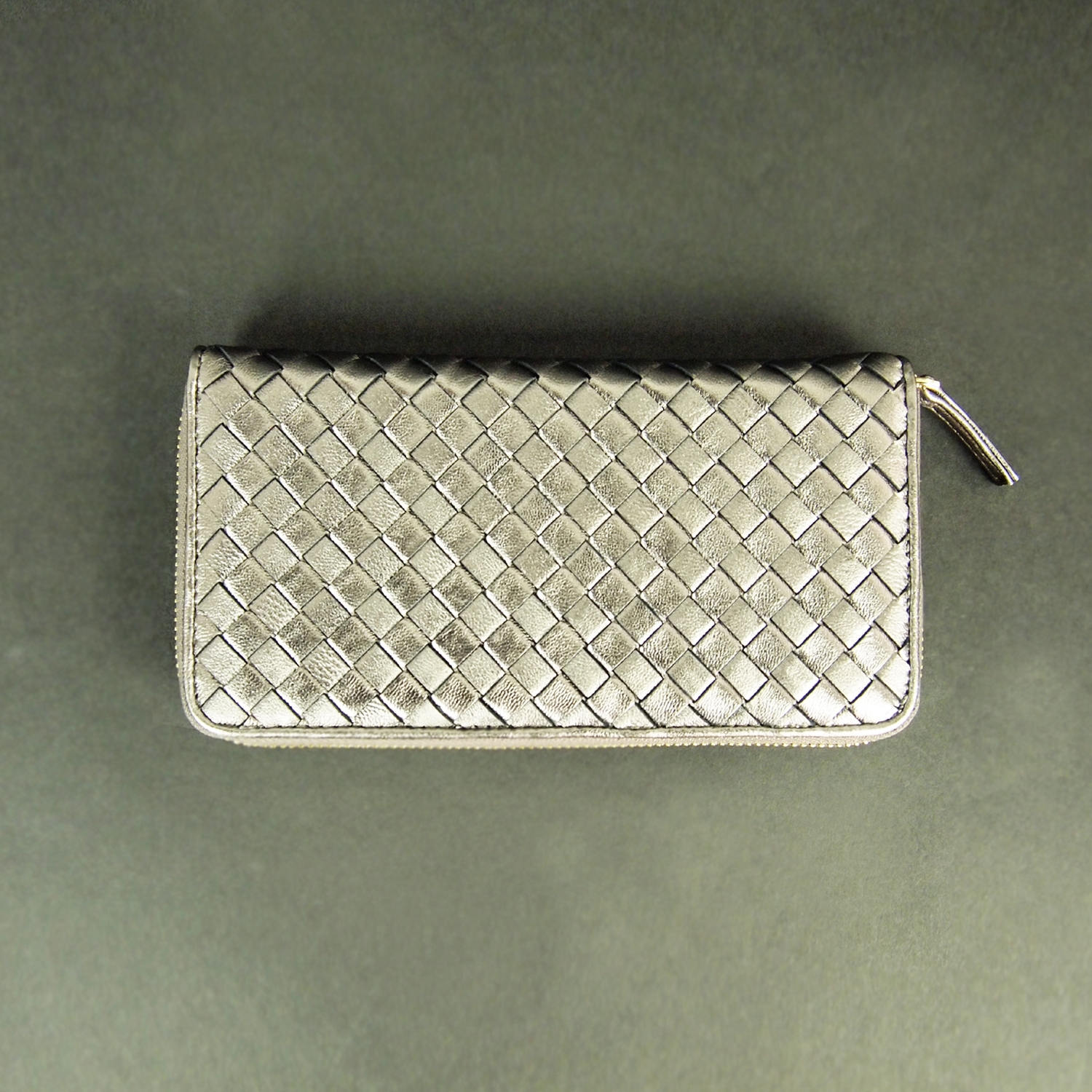 Modern Heritage Natty Woven Lamb Leather Wallet  Front View