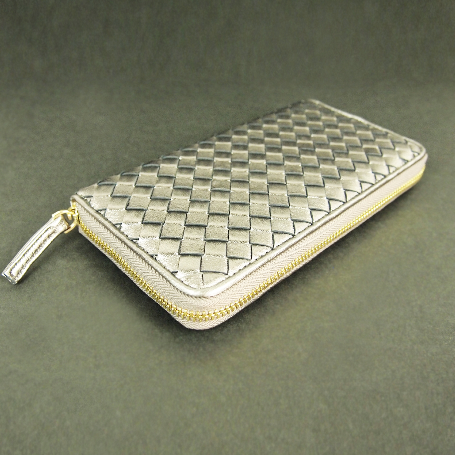 Modern HeritageNatty Woven Lamb Leather Wallet  Front View