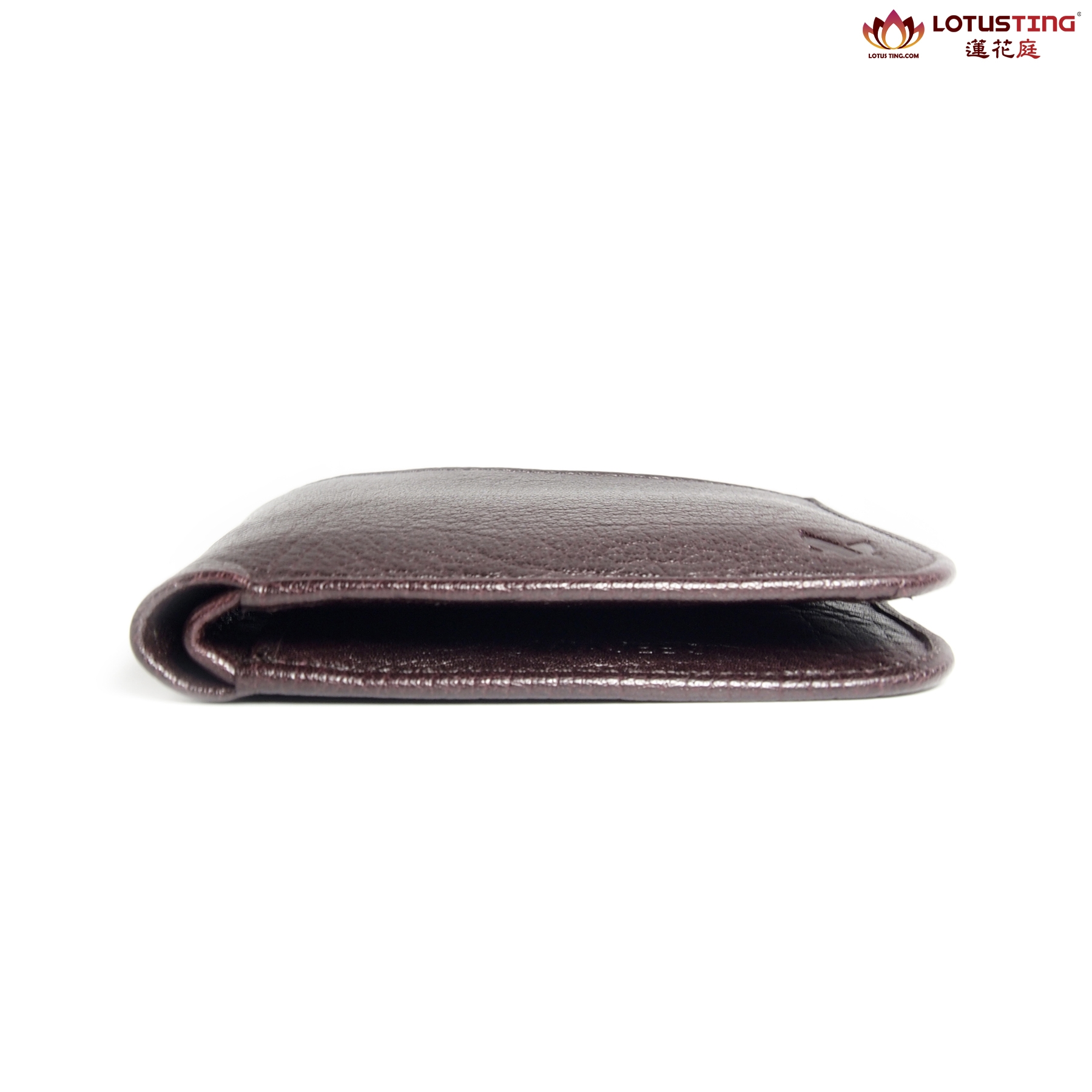 MIAJEES Slim Bifold Curve Wallet Side View