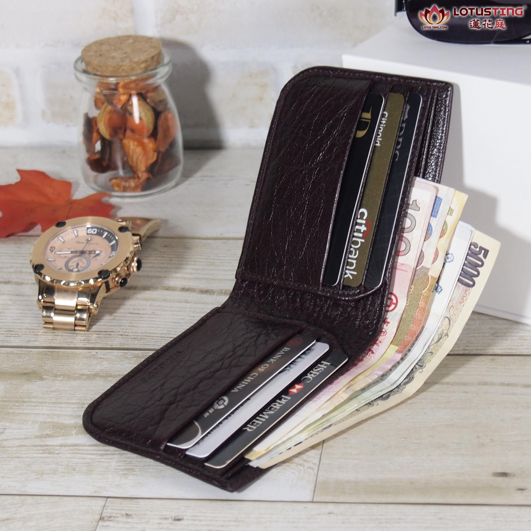 MIAJEES Slim Bifold Curve Wallet 6 card slots + 2 cash slots