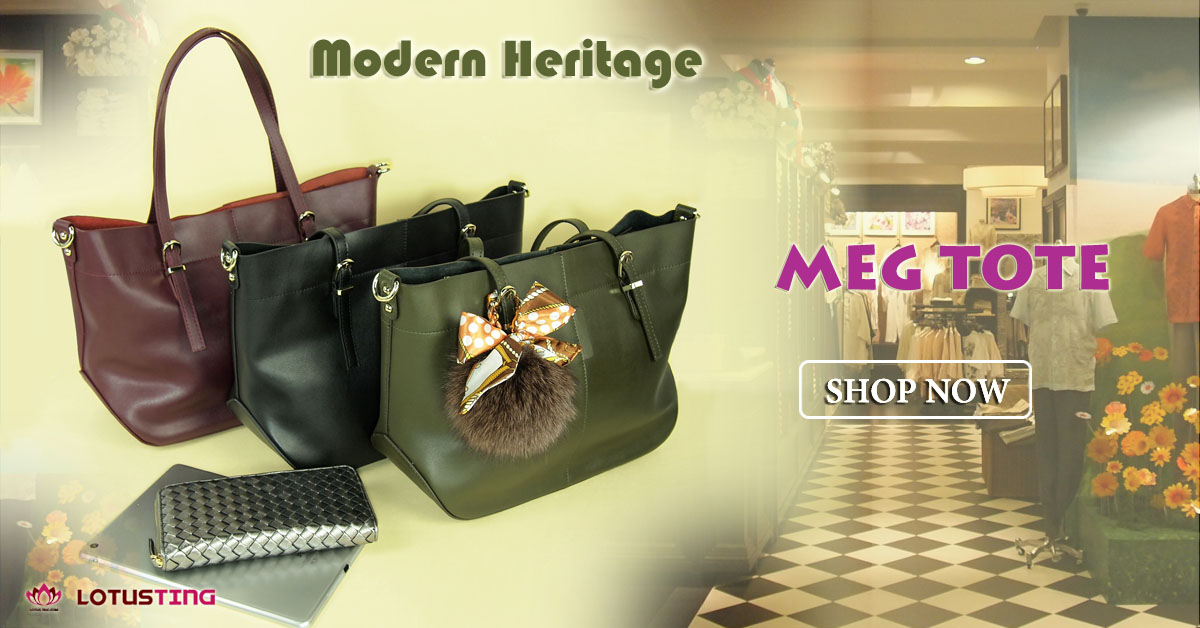 The Eye-catching Modern Heritage Meg Tote at Lotusting Singapore Online Shop