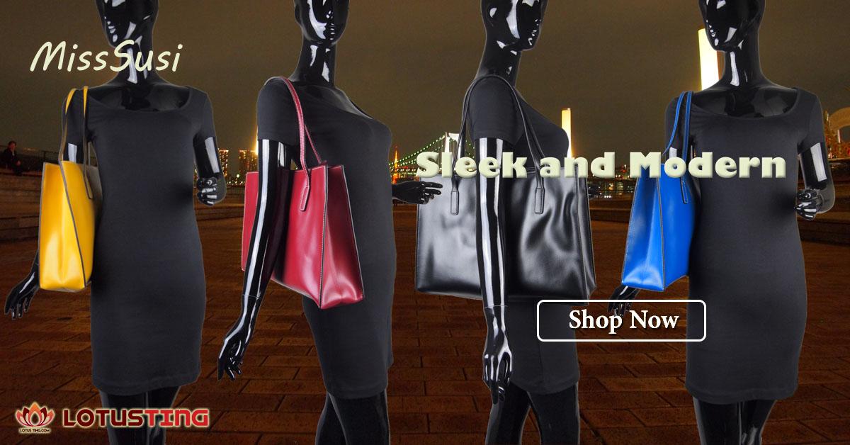 Elegant MissSusi Capella Shopper Handbags at Lotusting Singapore eStore
