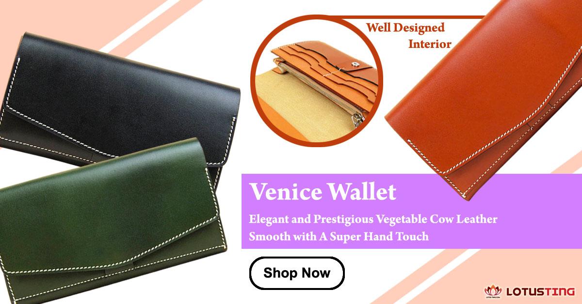 Fabulous Lotusting Vegetable Leather Venice Wallets at Lotusting eStore