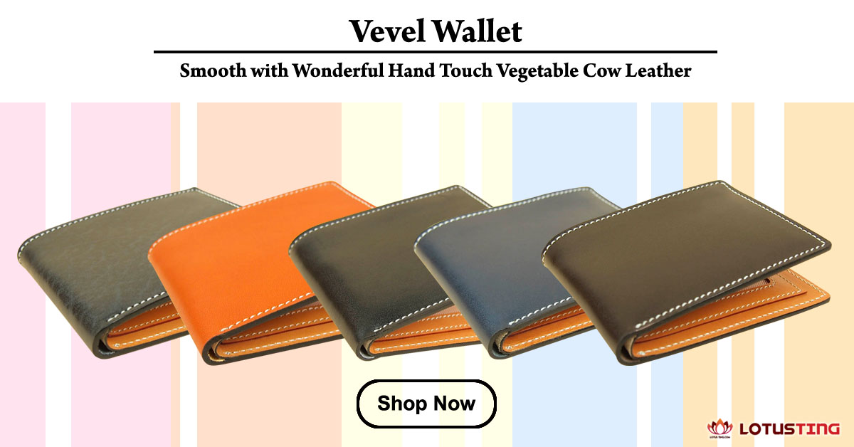 Fabulous Lotusting Vegetable Leather Vevel Wallets at Lotusting eStore