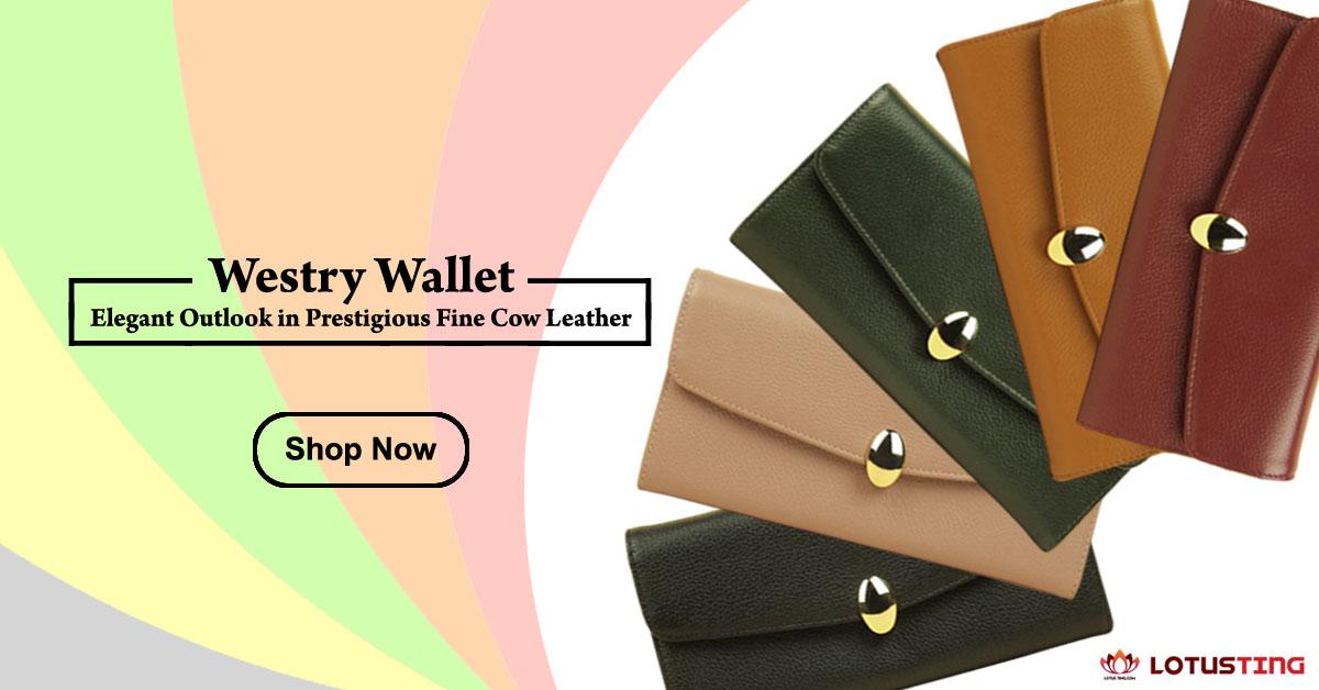 Fabulous Lotusting Vegetable Leather Westry Wallets at Lotusting eStore