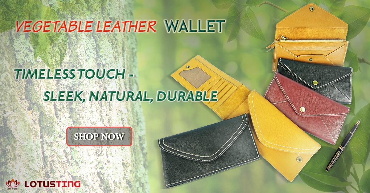 Fabulous Lotusting Vegetable Leather Wallets at Lotusting eStore
