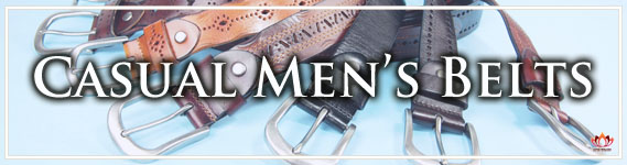 Men's Casual Leather Belts at LotusTing eShop/eStore