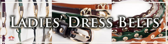 Women's Leather Dress Belts at LotusTing eShop