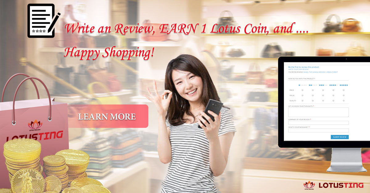 Write Reviews and Earn Lotus Coins at Lotusting eShop